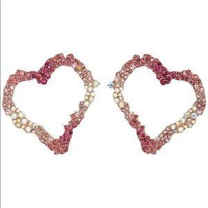Betsey heart earrings